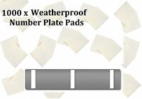 1000 Weatherproof Number Registration Plate Double Sided Sticky Foam Pads
