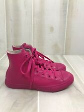 Converse All Stars Kids Sneakers Size 3 Hot Pink High Tops D3