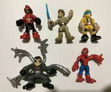 "Lot of 5 Playskool Assorted 3"" Figures Heroes Villains Doc OCK, Spider-Man, Axel"