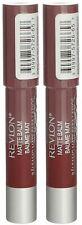 LOT OF 2 - Revlon Matte Lip Balm (265 Fierce) NEW .095 oz. SEALED