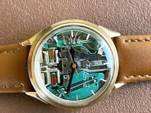 RARE 1965 BULOVA ACCUTRON SPACEVIEW 214 GOLD FILLED ALL ORIGINAL JUST SERVICED