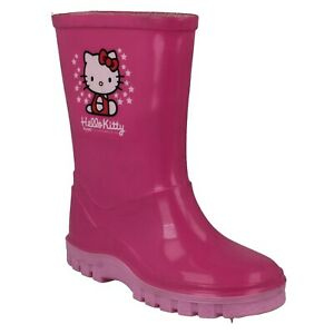 Infant Girls Hello Kitty Pull On Pink Wellies - UK 9 Infant