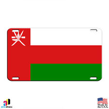 Oman Country Flag Aluminum Metal Novelty License Plate Tag