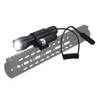 Rechargeable 5000Lm XML T6 LED Tactical Flashlight Light Gun Mount Remote Switch