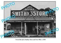 OLD 8x6 PHOTO OF NOOSAVILLE SMITHYS STORE c1930 QLD PETROL BOWSER