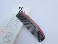 Nice 6-3 Black Buffalo Horn Comb Health Care Comb Violet Wood Rim