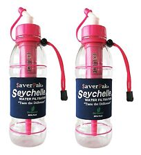 $averPak 2 Pack - Includes 2 Seychelle 20oz Sports Bottle PINK w/ EXTREME Filter