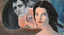 Modernist portraits vintage oil painting