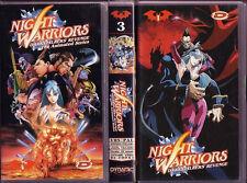 VHS MANGA 90,THE NIGHT WARRIORS ANIME DARKSTALKERS ANIMATED 1,3,4 vampire savior