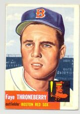 1953 Topps #49 FAYE THRONEBERRY -- Boston Red Sox -- Excellent