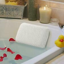 Luxury Bath Spa Pillow White Relaxing Spongy Cushioned Head Neck Rest Bathroom