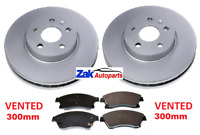 VAUXHALL ASTRA J MK6 2.0 1.7 SRI CDTi TWO FRONT BRAKE DISCS AND PADS SET