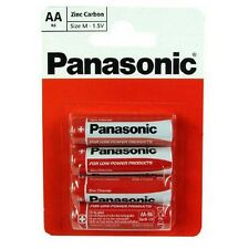 48 Panasonic AA Batteries 1.5v R6 Zinc Carbon  Remotes Clock Toothbrush Etc NEW