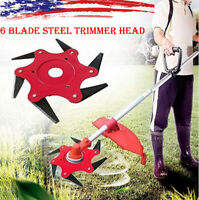 6 Steel Blades Razor 65Mn Lawn Mower Grass Eater Trimmer Head Brush Cutter Tools