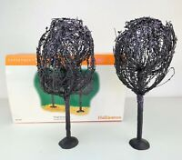 Department 56 Halloween Spooky Willows Original Box Set of Two Trees 56.53087