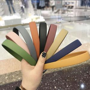 New Women Wide 2cm Solid Color Headband Hairband Head Hoop Girl Hair Accessories