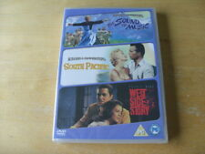 The Sound Of Music/ South Pacific/ West Side Story (DVD, 2009, 3-Disc Set) NEW
