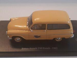 Miniature La Poste  1/43 ,  simca aronde P60 Ranch , 1962