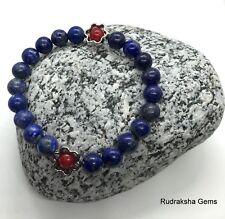 Lapis Lazuli Red Coral Natural Gemstone Healing Stone Crystal  Bracelet Reiki