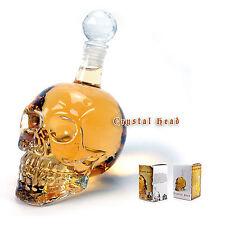 New 1000ml Crystal Skull Head  Bottle Vodka Whiskey Shot Wine Glass Bar Party de
