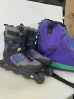 K2 Flight SoftBoot Carbon Air Inline 80's Rollerblade Skates ~ Mens Size 10