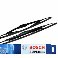"""VW Bora 21/19"""" Bosch Superplus Front Wiper Blades Curved Genuine Window New"""