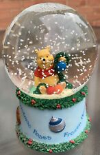 More details for disney winnie the pooh frozen noses and christmas poses snow globe