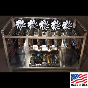 8 GPU Aluminum Mining Rig Frame Open Air Miner Case Made In USA