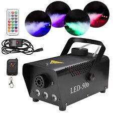 Nebelmaschine RGB Mini 500W Mit Funk Fernbedienung Nebelgerät 3in1 Fogger LED