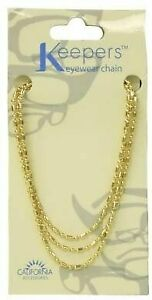 Keepers Eyewear Chain- Gold Beaded