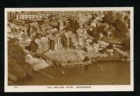 Cumbria Westmorland WINDERMERE Old England Hotel c1930/40s? Aerial RP PPC