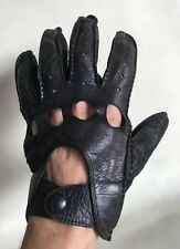 VTG LEATHER DRIVING Motorcycle GLOVES Black L HAND CRAFTED IN PHILIPPINES