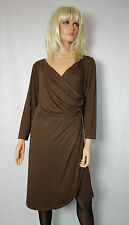Restart Jersey  Kleid Wickeloptik  Gr 46 Braun