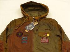 NEUF KAPORAL ninja vintage décontracté manteau veste parka vert marron