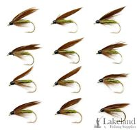 (Set M40S) 3, 6 or 12x Cow Dung Wet Trout Flies for Fly Fishing