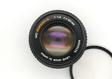 Minolta MD Rokkor-X 50mm f1.4 Lens; Minolta MD mount; Very good; Free shipping