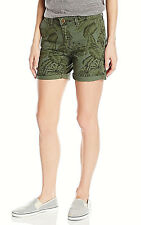 Levis womens Classic Tropical Leaf Print Charango Chino shorts 14 / 32 NEW
