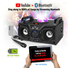 More details for karaoke machine party speaker with bluetooth disco led lights and microphone kar