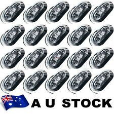20X White Side Light LED Marker Chrome Base Trailer Truck Clearance 12V AU ship