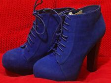 Botas Botines Azules Azulon Talla 40 con cordones y cremallera
