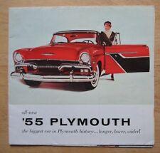 Plymouth Orig 1955 Usa Mkt folleto de ventas-Savoy Plaza Belvedere