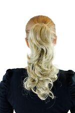 Postiche Clair Blond Cendré env. 35 cm ondulé épingle à cheveux-papillon Tresse