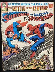 SUPERMAN vs SPIDER-MAN - The Battle of the Century, Low Grade, Treasury Ed. 1976