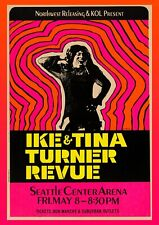More details for ike and tina turner revue seattle concert poster reproduction print wall art