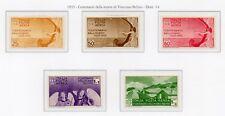 ITALIA 1935 - BELLINI POSTA AEREA SERIE CPL. 5 VAL. MH*