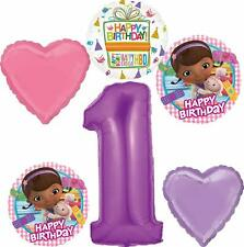 Doc McStuffins Party Supplies 1st Birthday Balloon Bouquet Decorations