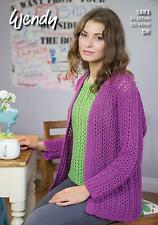 Wendy 5883 Knitting Pattern Loose Fitting Cardigan and Top in Supreme Cotton DK