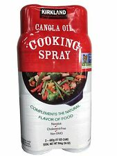 Kirkland Signature Non-GMO Canola Oil Nonstick Cooking Spray  2-17oz Cans