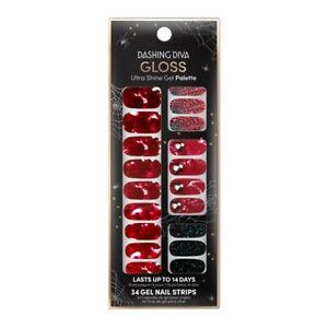 DASHING DIVA Gloss Ultra Shine Gel 'Vampirina' Red Blood Spider Web Halloween