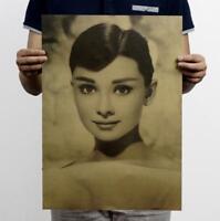 Vintage Hepburn / Nostalgic Retro Kraft Paper Poster Decorative paintings Poster